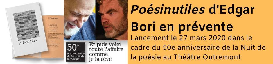 Poésinutiles d'Edgar Bori en prévente