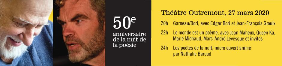 50e anniversaire de la nuit de la poésie – 27 mars 2020